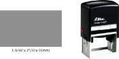 "Shiny S-827 Self-Inking Stamp. Impression Size: 1-3/16"" x 2"""