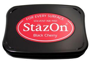 StazOn Permanent Ink Stamp Pad 1 7 8 X 3 Black Cherry