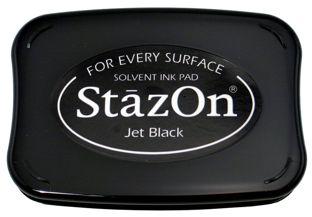 StazOn Permanent Ink Stamp Pad 1 7 8 X 3 Jet Black