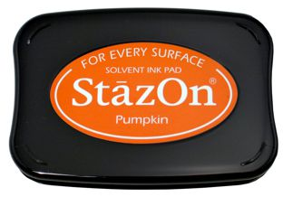 StazOn Permanent Ink Stamp Pad 1 7 8 X 3 Pumpkin