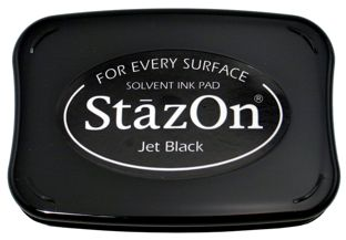 StazOn is a solvent-based ink, designed for decorating non-porous and semi-porous surfaces, such as metal, shrink plastic, acrylic, cellophane, aluminum foil, leather and some glass surfaces. Thanks to its mild smell, StazOn is much safer to use than othe